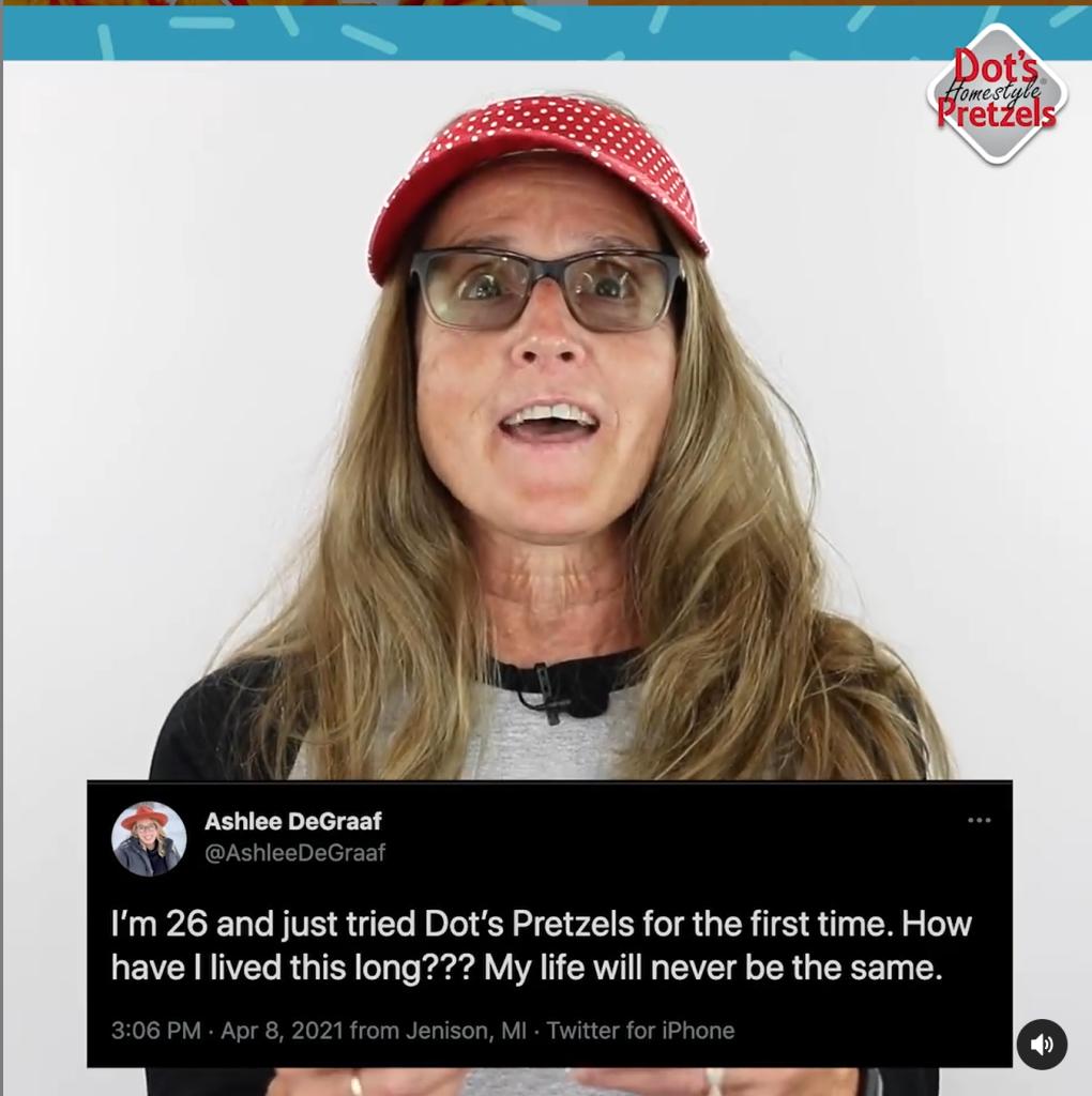 Dots Pretzels replies to twitter